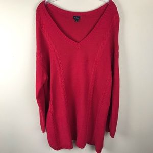 TORRID Cable Knit Red Sweater 2X